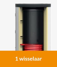 Buffervat met wisselaar voor cv of warmtepom. Bij 123-Kaminofen
