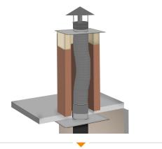 Hoe monteer ik een flexibel rookkanaal in mijn huis? Lees het bij 123-Kaminofen