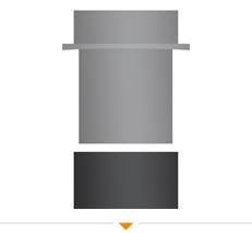 Hoe sluit ik een enkelwandig naar dubbelwandig verloop aan op de pijp