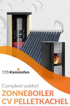 Pelletkachel op cv kopen met zonneboiler? Bij 123-Kaminofen goed mogelijk! Ga van het gas af!